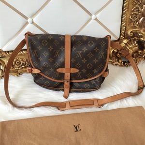 Louis Vuitton Monogram Saumur 30 Double Saddle Bag